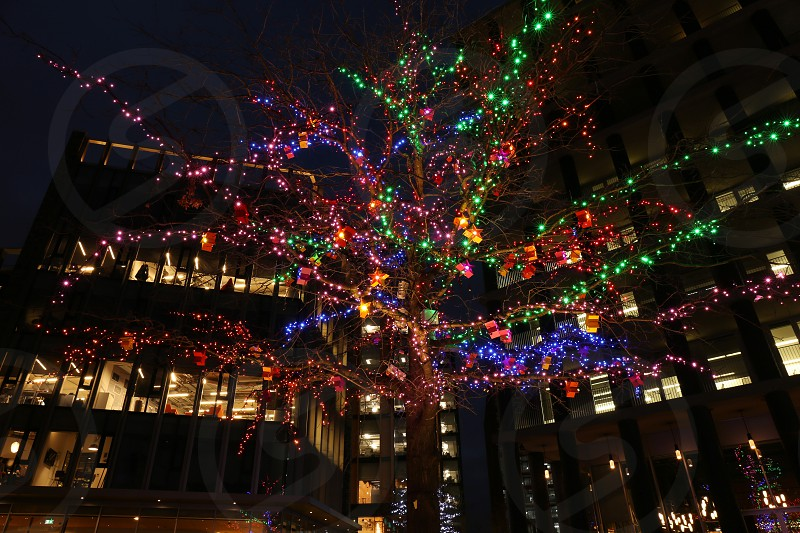 Xmas decorations in London photo