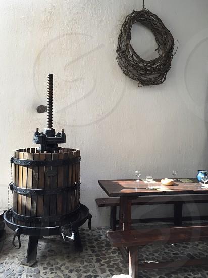 Greek vineyard vineyardGreece 300 year old vineyard wine wine tasting photo