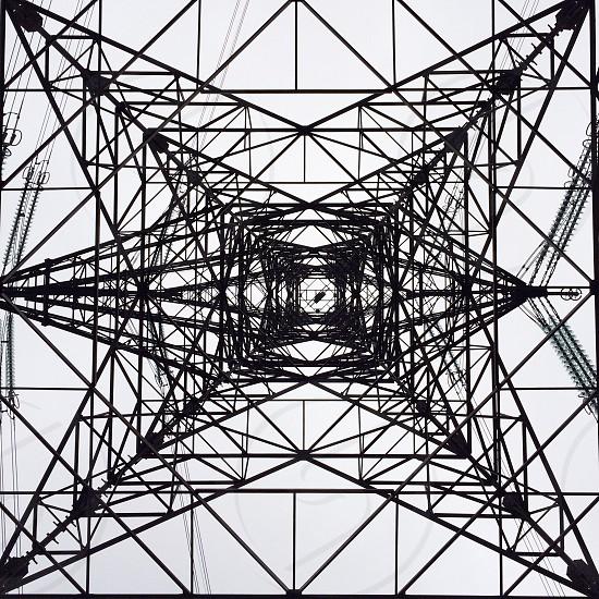 gray metal tower photo