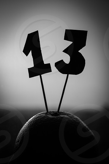 13 number bad luck number photo