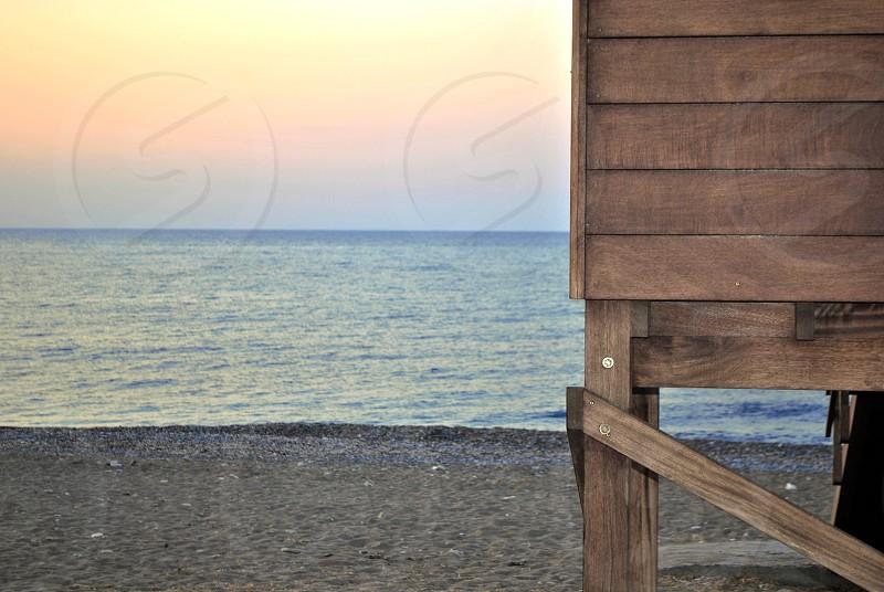Seaside cyprus sea sunset holiday beautiful photo