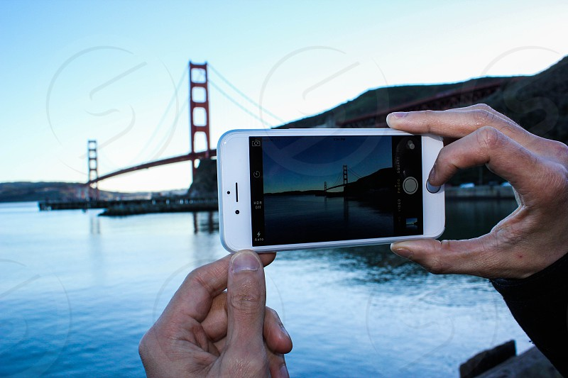 iPhone golden gate San Francisco  photo
