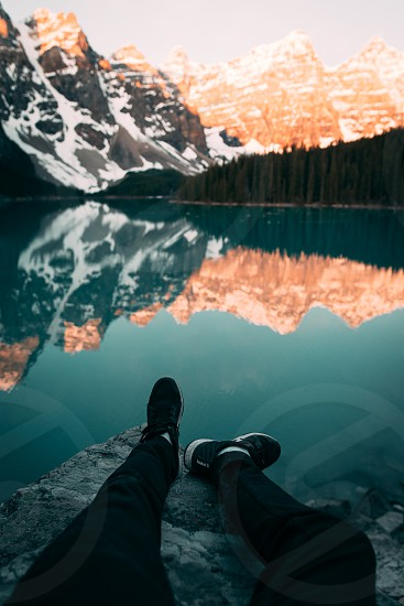 An early summer morning at Moraine Lake. photo