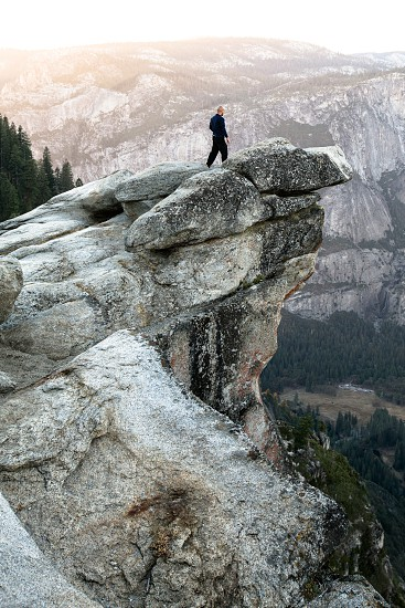 man at Glacier Point Yosemite Valley Yosemite National Park photo
