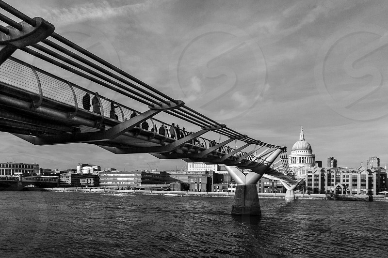 Millennium Bridge and St Pauls Cathedral photo
