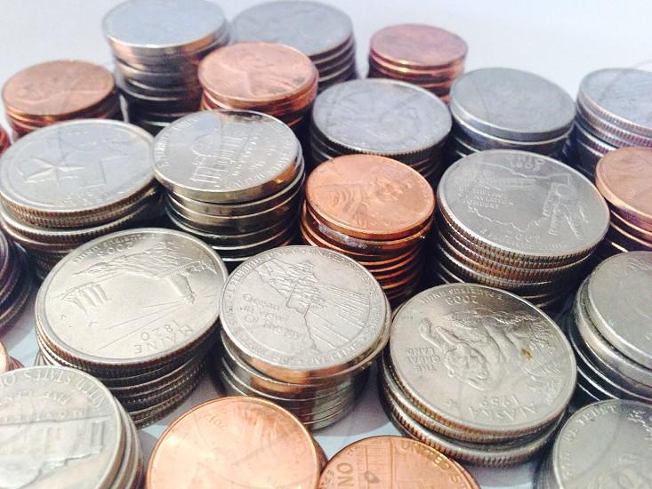 silver round coins photo