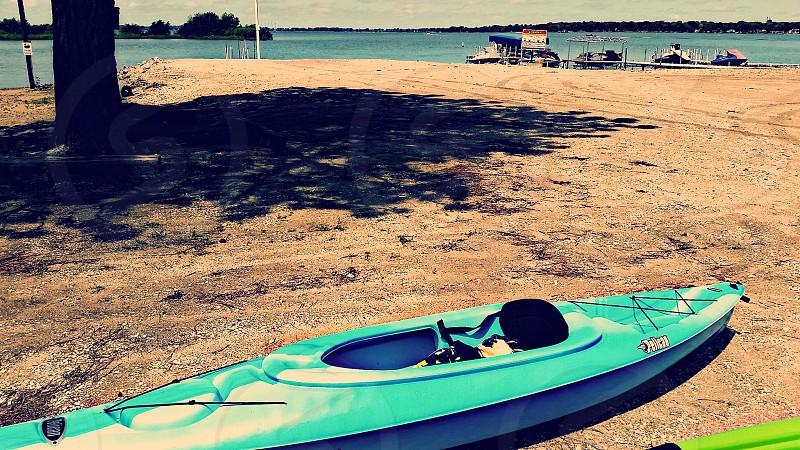 Kayak and beach photo
