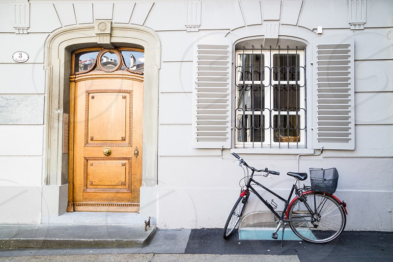 European exterior apartment with bike photo