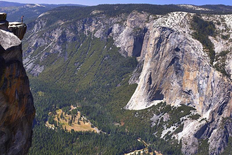 Hike cliff yosemite  photo