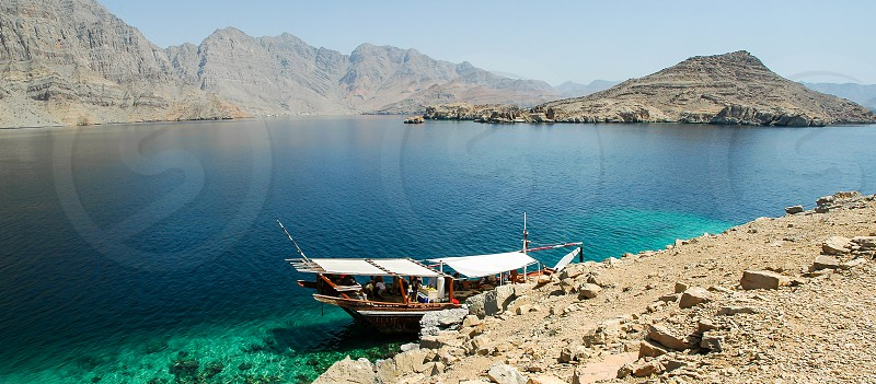 Fjord in Mussandam Sultanat of Oman photo