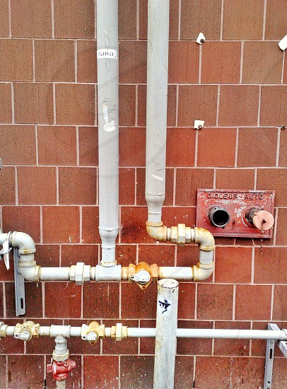 Pipes on Wall photo