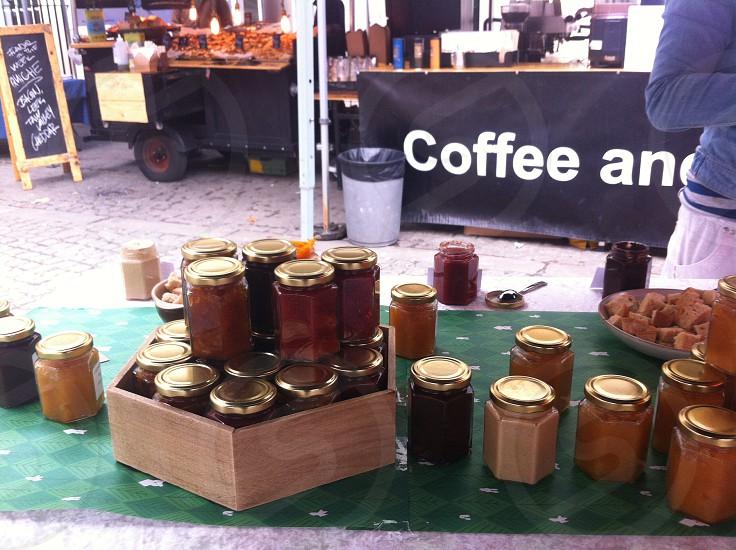 market stall jams photo