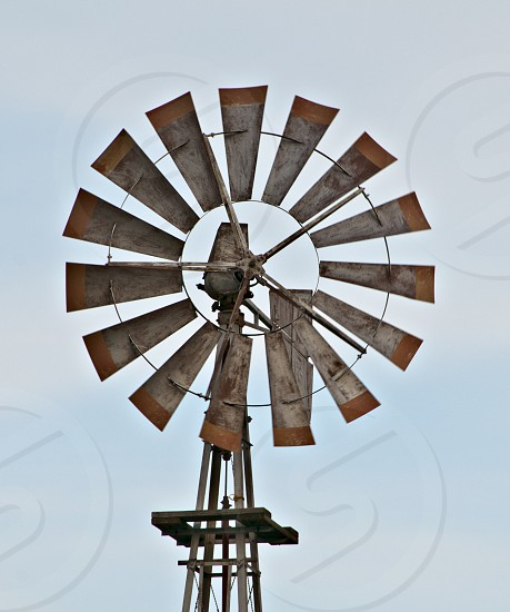 brown and grey windmill photo