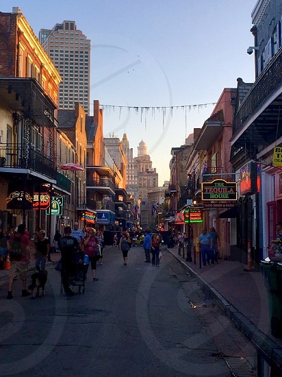 Bourbon Street French Quarter New Orleans Louisiana photo