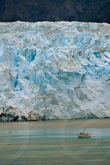 Boat and Glacier photo