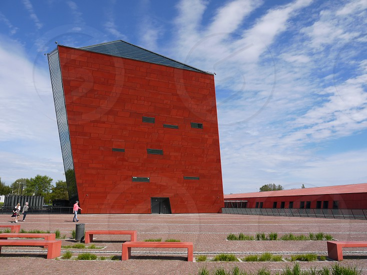 Museum of the Second World War in Gdansk. Modern building in the Polish city of Gdansk. Polish modern architecture photo
