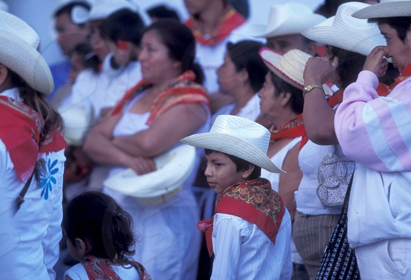 Mexican people at the church in the town of Esquipulas in Guatemala in central America.    photo