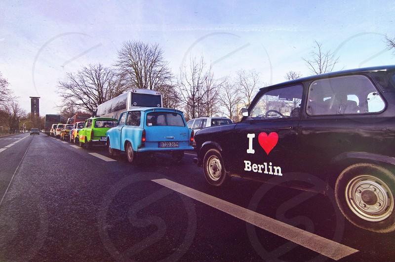I heart berlin printed black vehicle photo
