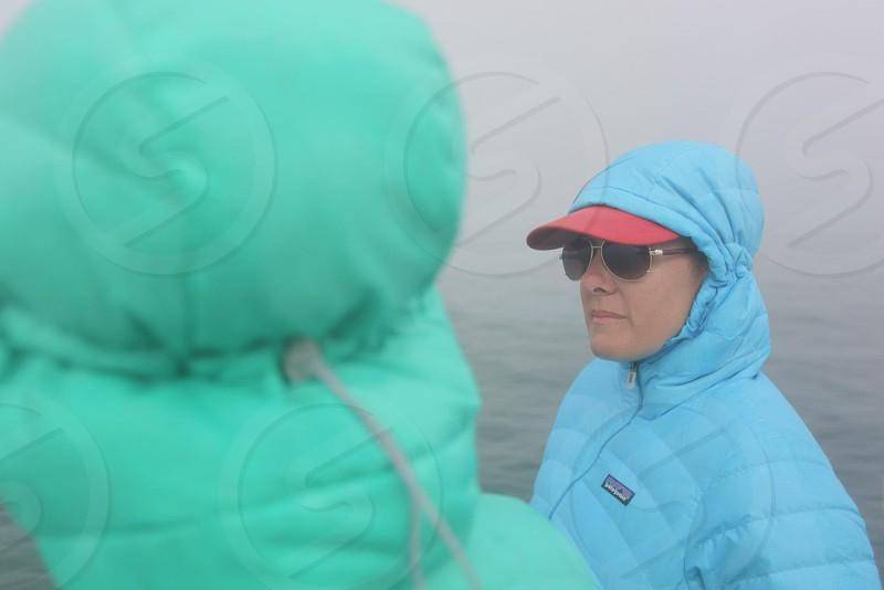 Foggy boat ride photo