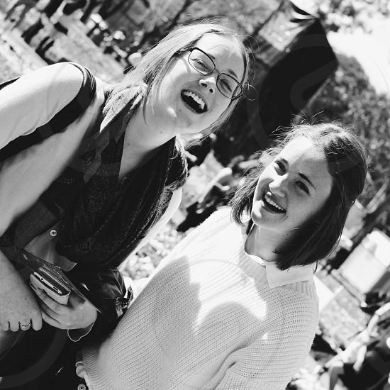 Girls laughing photo