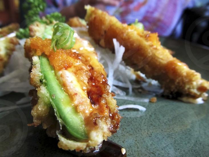 Tuna stuffed deep fried jalapenos photo