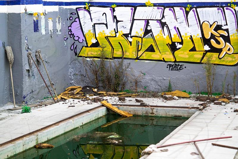 Graffiti in abandoned location photo