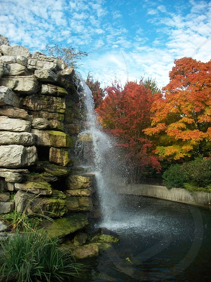Waterfall National Zoo Washington DC Fall photo