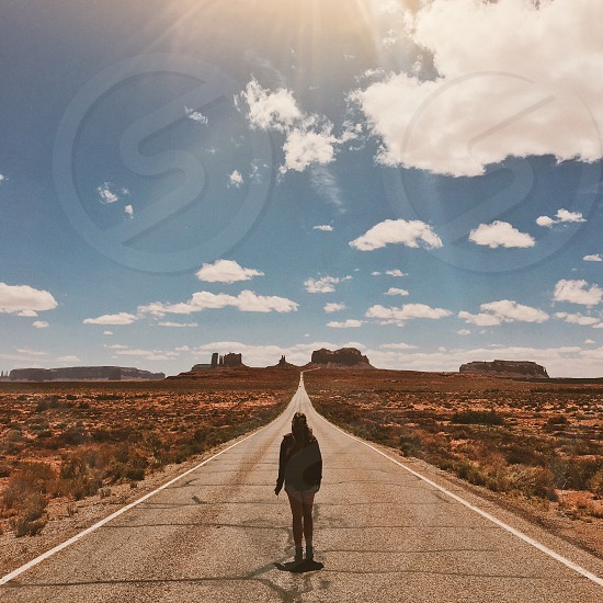 Monument Valley on The Road girl photo