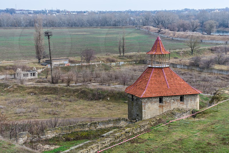 Old historic Fortress on the banks of the Dniester River Bender city Transnistria Moldova photo
