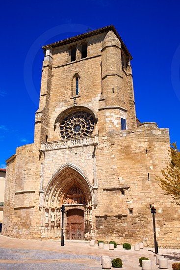 Burgos San Esteban church facade in Castilla Leon of Spain photo
