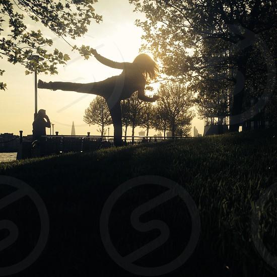 Sunset karate kid photo