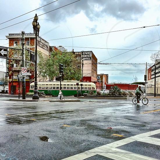 Urban street scene photo