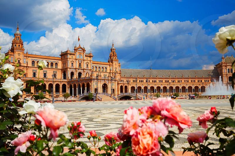 Seville Sevilla Plaza de Espana in Andalusia Spain square photo