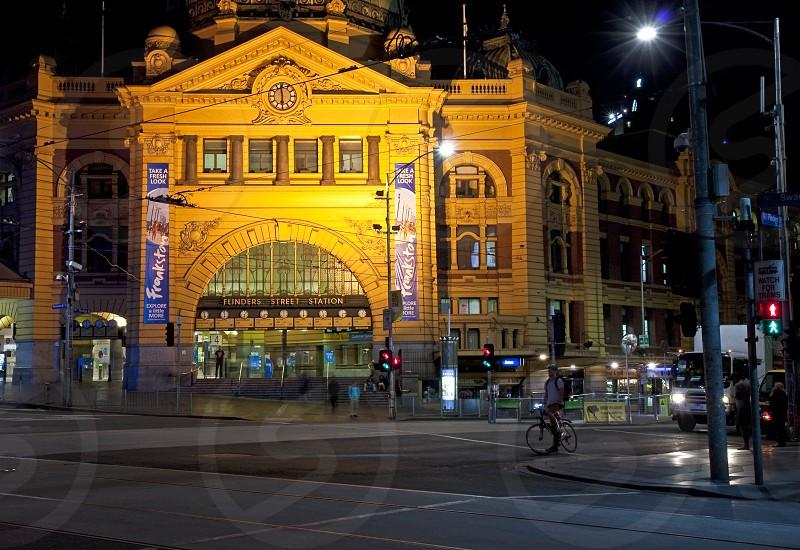 Iconic Flinders Street Railway Station Melbourne Australia. photo