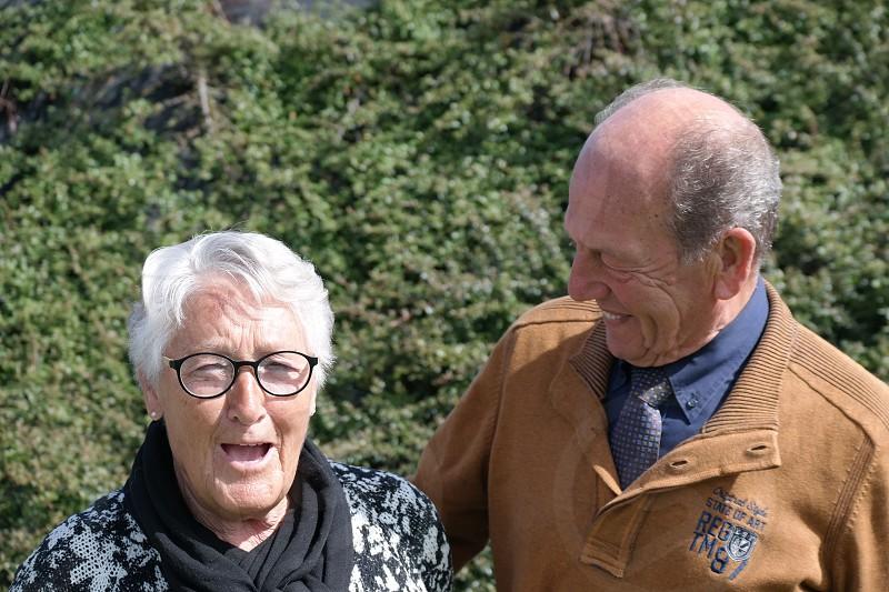elderly old people couple photo