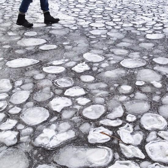 walking on ice photo