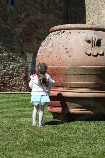 The girl and the giant jar photo