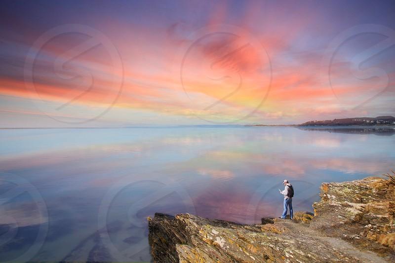 Landscapealonewatersunset photo