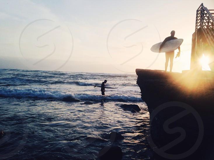 Surfing California style  photo