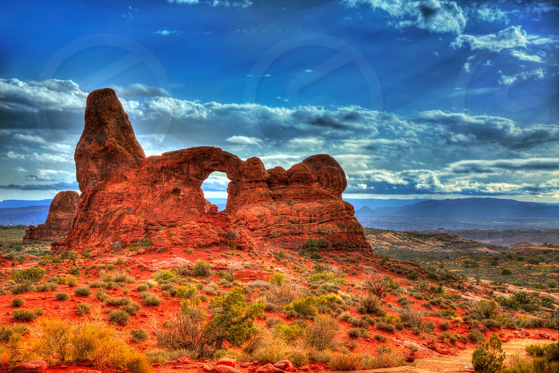 Arches National Park Turret Arch in Moab Utah USA photo