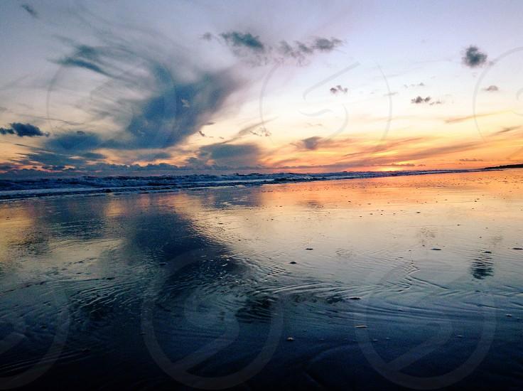 Reflecting sunset  photo