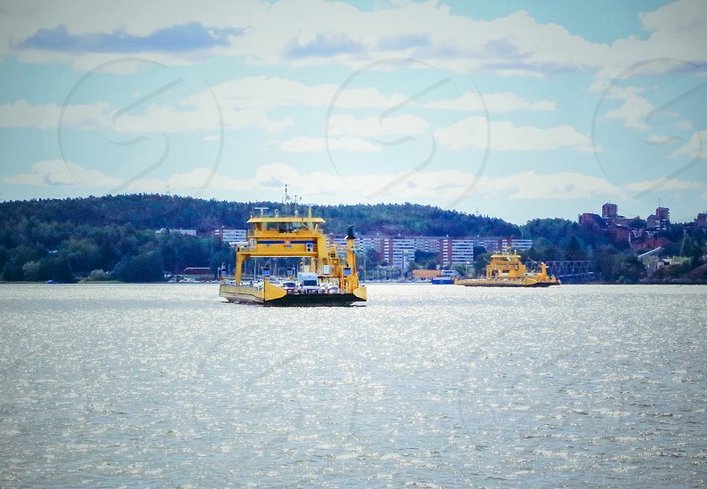 Water transport water transportation  ferry ferries ferry lines car ferries cars photo