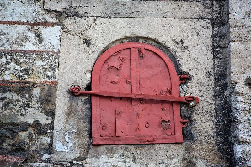 Old Window  window wall lock Istanbul  photo