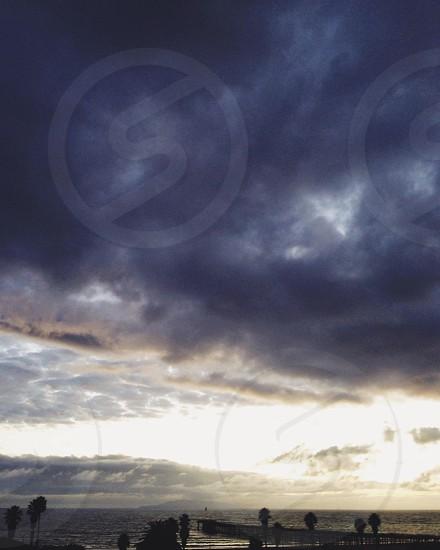 Cumulus clouds photo