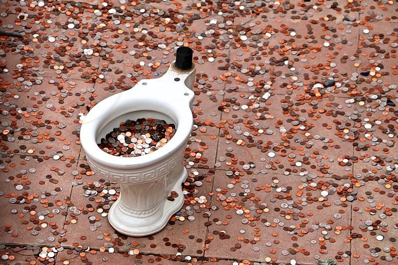 Money toilet change finances  photo