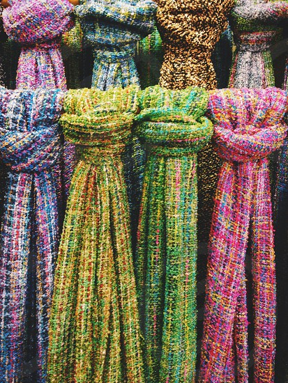#textiles #clothing #scarf #colour photo