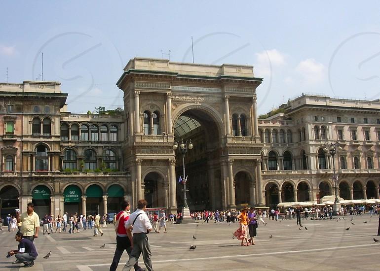 Piazza del Duomo Milan Italy photo