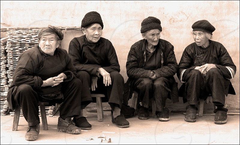 old women in China photo
