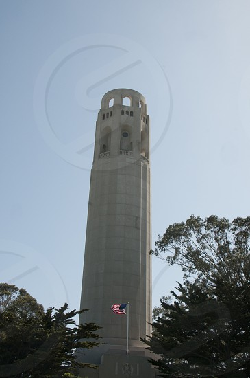Coit Tower atop Telegraph Hill in San Francisco photo