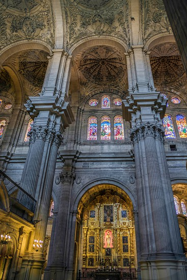 Interior View of the Cathedral of the Incarnation in Malaga photo